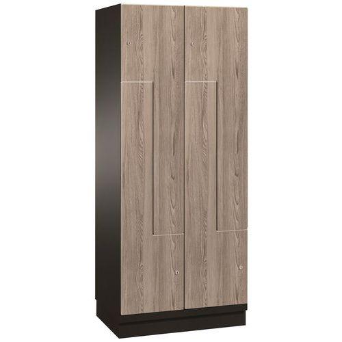 Garderobekast deur L hout - 2 tot 6 vakken breedte 150 mm - Op voet