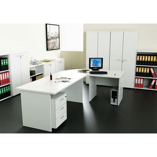 Compact bureau solo panelenonderstel solo manutan - Werkblad gelamineerd compact ...