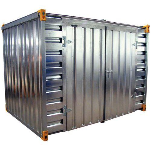 Opslagcontainer - Opvangvermogen 1140 L - Opening lange zijde