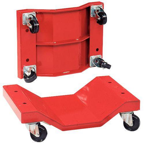Set van 2 rollers voor lange lasten - Nylon wielen - Draagvermogen 1000kg