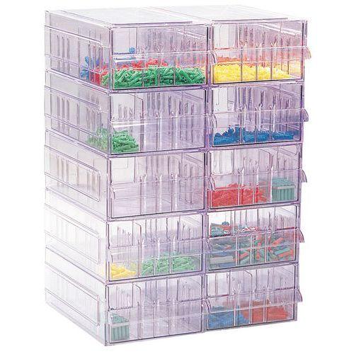 Ladeblok in kristalpolystreen