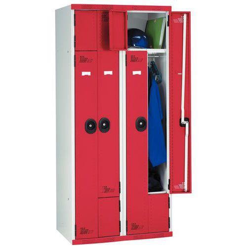 Garderobekast deur L - 1 en 2 kolommen breedte 400 mm - Op voet