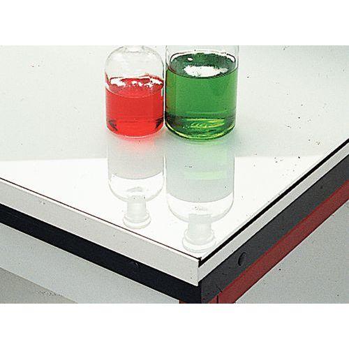 Modulair hoekmeubel voor laboratorium - Geëmailleerd glas - Zonder muurplaat