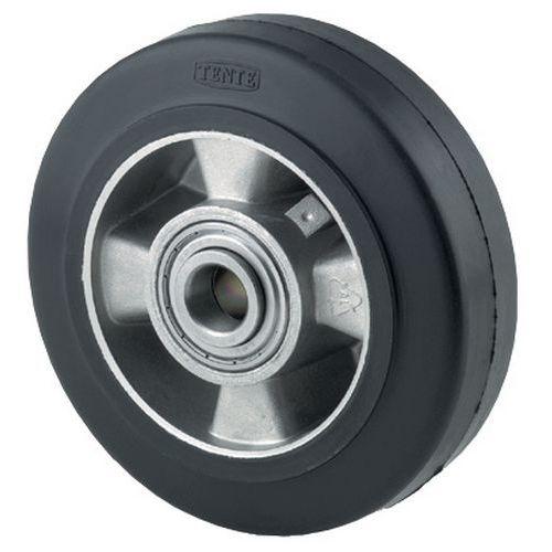 Transportwiel met elastische, rubberen band en aluminium velg