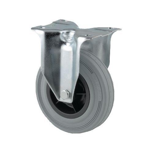 Bokwiel met grondplaat - Draagvermogen 70 tot 205 kg - Grijs
