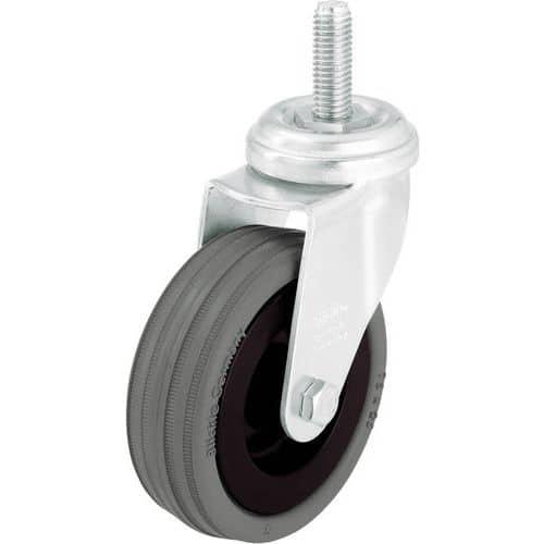 Zwenkwiel met stiftbevestiging M10 x 30 mm - Draagvermogen 40 tot 70 kg