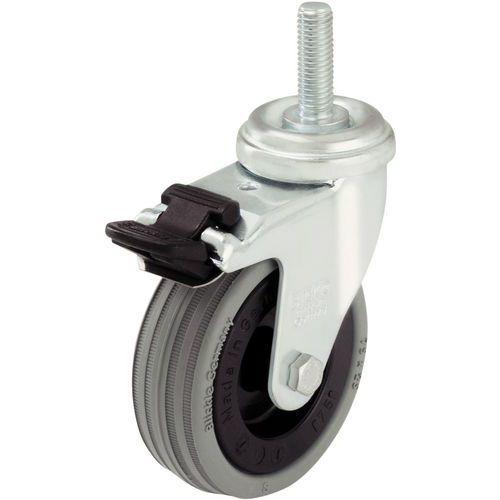 Zwenkwiel met stiftbevestiging M10 x 30 mm - Draagvermogen van 40 tot 70 kg - Geremd