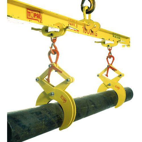 Halfautomatische buisklem - Draagvermogen 500 tot 3000 kg