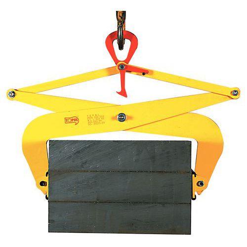 Halfautomatische blokklem - Draagvermogen 500 tot 1000 kg