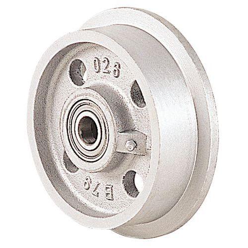 Afbeelding van Gietijzeren wiel voor wagen - Draagvermogen 400 tot 3500 kg - Kogellager