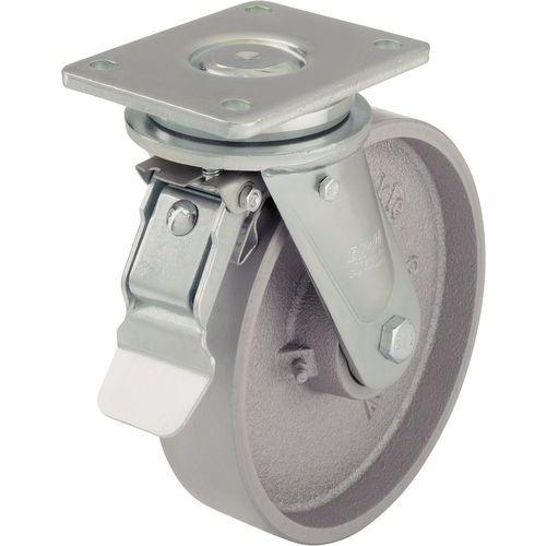 Afbeelding van Gietijzeren wiel - draagvermogen 750 tot 1200 kg - geremd zwenkwiel