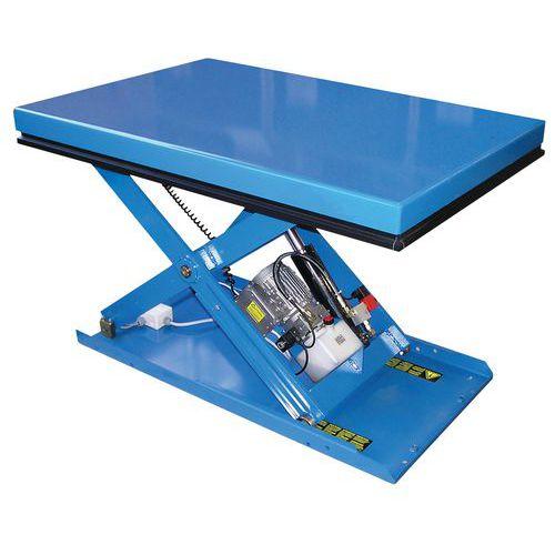 Vaste, ergonomische heftafel EAX - Hefvermogen 500 tot 2000 kg