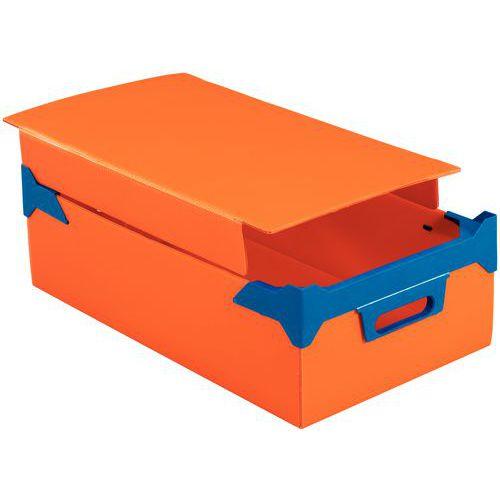 Deksel voor stapelbare bak van polystyreen