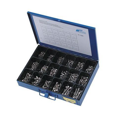 Assortimentsdoos met cilindervormige schroeven binnenzeskant - 355 stuks