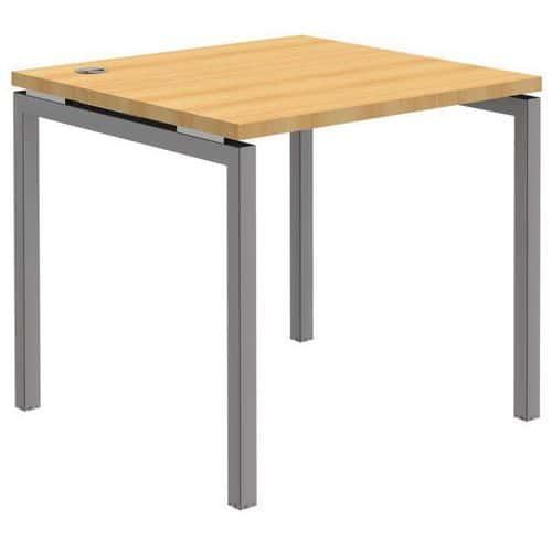 recht bureau open beuken aluminium vast onderstel. Black Bedroom Furniture Sets. Home Design Ideas