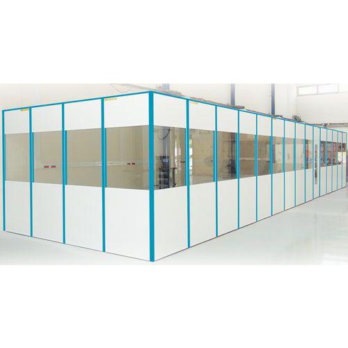 Enkelvoudige scheidingswand in melamine paneel voor de helft i for Verwijderbaar glas