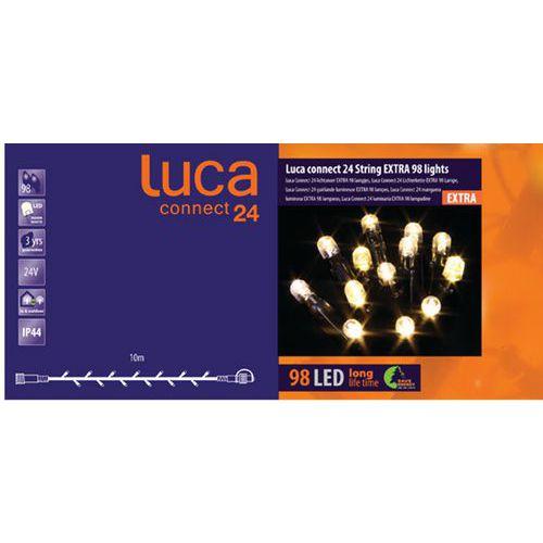 Verlichting Luca connect 24 extra snoer 1000 cm zwart