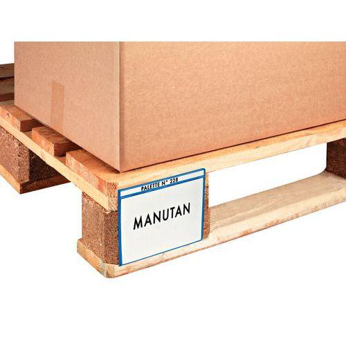 Etikethouder voor palletvoet   Manutan