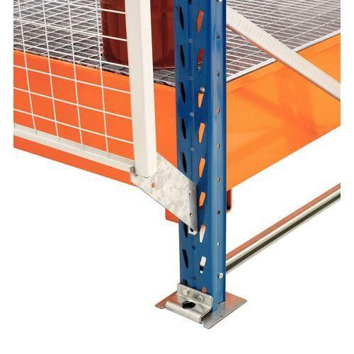Bescherming voor stelling Easy-Rack - Valbeveiligingsrooster - Bevestigingsmateriaal