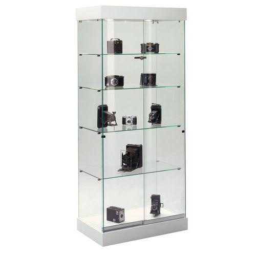 vitrine op voetstuk wit. Black Bedroom Furniture Sets. Home Design Ideas