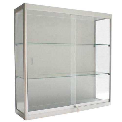 vitrine voor muurbevestiging met verlichting