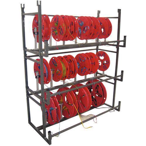 Kabelhaspel- en draadspoelenrek Bobi-Rack