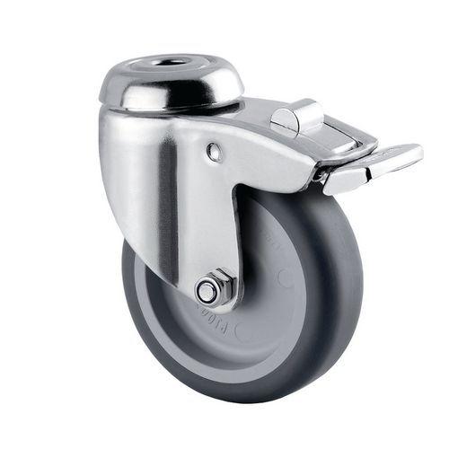 Zwenkwiel met boutgat en rem - Draagvermogen 60kg