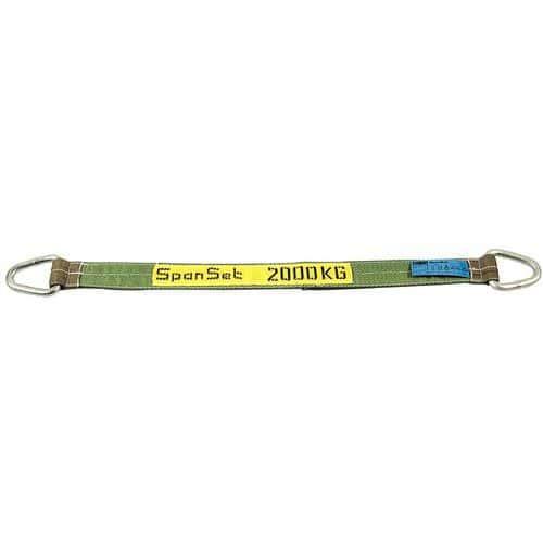 Hijsband behandeld met polyurethaan - Hefvermogen 2000 tot 6000 kg - Met eenvoudige stalen ringen - 3 m