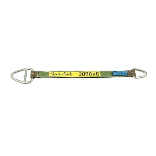 Hijsband behandeld met polyurethaan - draagvermogen 2000 tot 6000 kg - met sluitring en stalen ring - 2 m tot