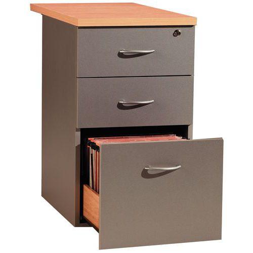 Staand ladeblok basik beuken basik manutan for Ladeblok onder bureau