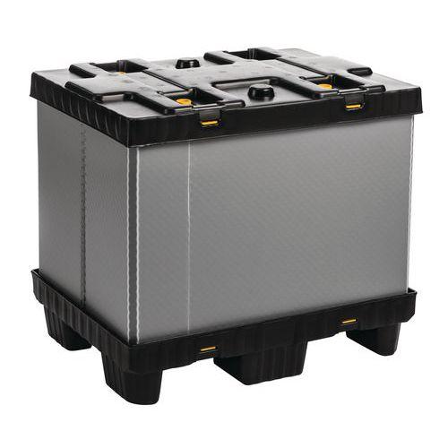 Vouwbare palletbox Mega Pack - Met vaste zijwanden