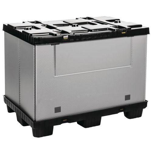 Vouwbare palletbox Mega Pack - Met neerklapbare zijwand