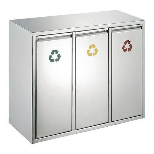 Afvalbak afvalscheiding 3x15l