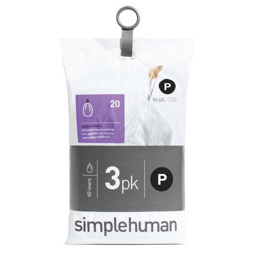 Afvalzakken Pocket Liner 50-60 liter (P)- Simplehuman