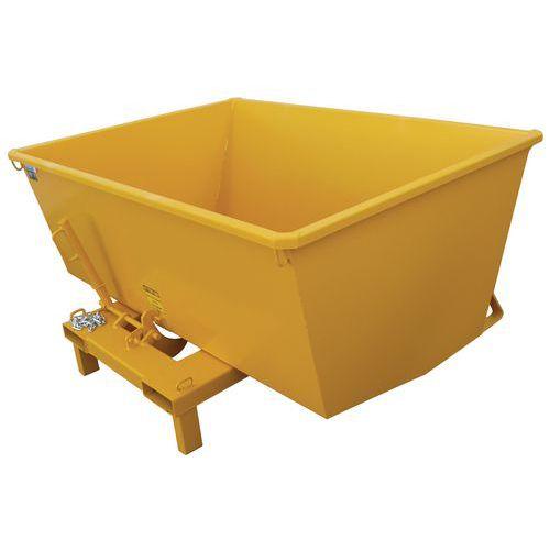 Zelfkantelende kiepcontainer met beperkte hoogte - Op staander 800 kg