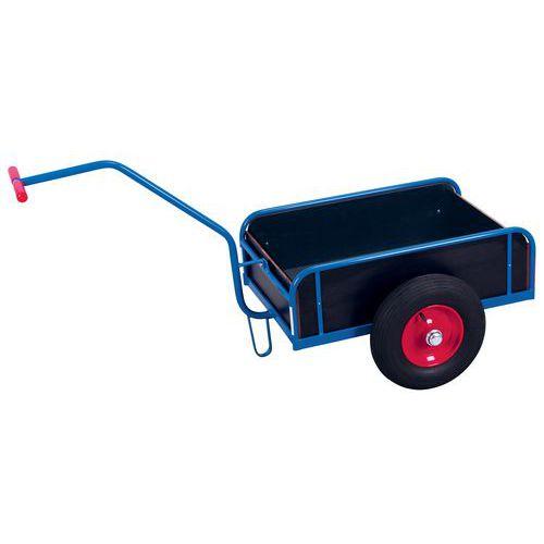 Wagen met arm en houten wanden - Draagvermogen 200 en 400kg