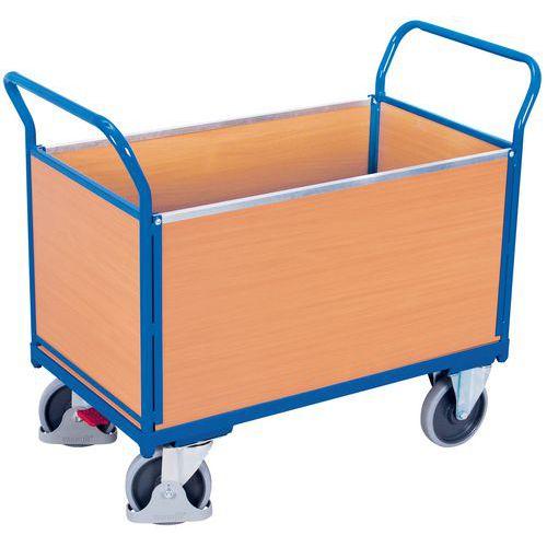 Ergonomische wagen met 4 houten panelen - Draagvermogen 400 en 500kg