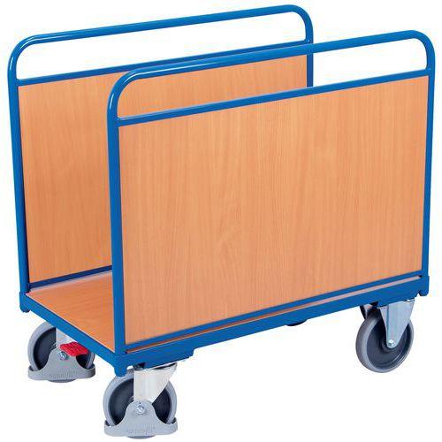 Ergonomische wagen met 2 houten zijpanelen - Draagvermogen 500kg