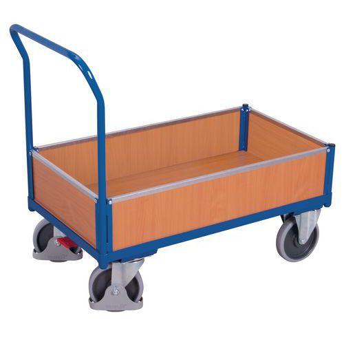 Ergonomische wagen met verwijderbare houten wanden - Draagvermogen 400 en 500kg