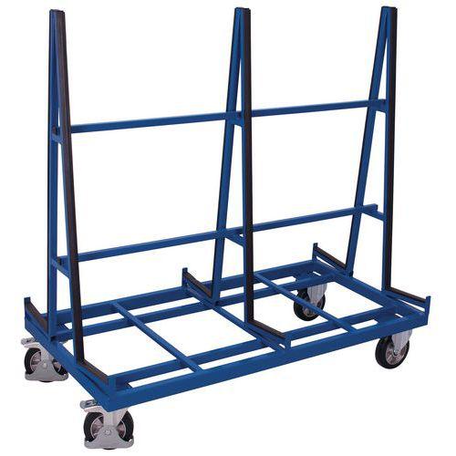 Dubbelzijdige, ergonomische wagen voor panelen - Draagvermogen 1200kg