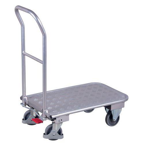 Ergonomische aluminium wagen - Neerklapbare beugel - Draagvermogen 150kg