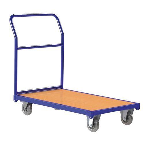 Ergonomische, stalen wagen - Vaste duwbeugel - Draagvermogen 250 kg