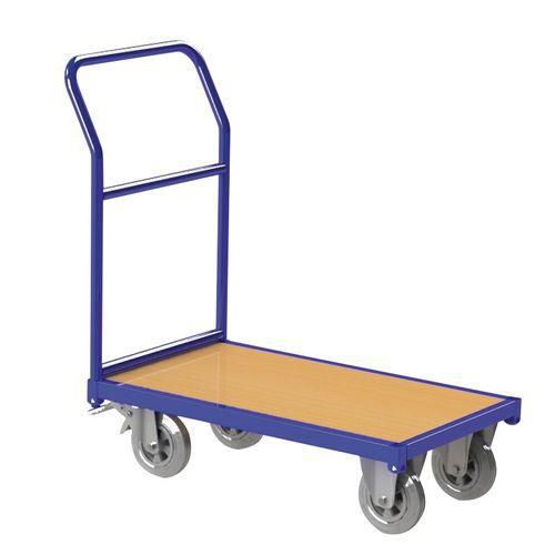Ergonomische, stalen wagen - Vaste duwbeugel - Draagvermogen 500 kg