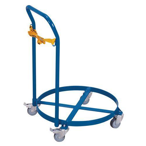 Rolwagen voor vaten met beugel - Draagvermogen 250kg