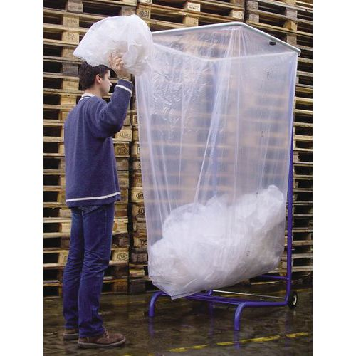 Transparante afvalzak voor container met groot volume - 400 tot 2500l