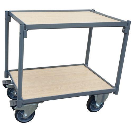 Houten tafelwagen voor bakken - Draagvermogen - 250 kg - Manutan