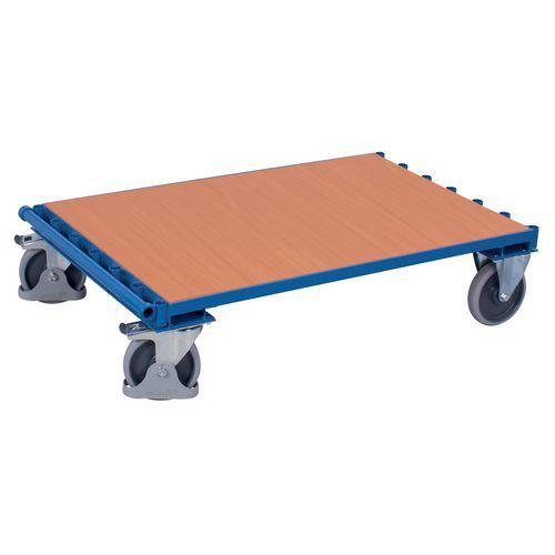 Ergonomische plateauwagen zonder zijpaneel - Draagvermogen 500kg