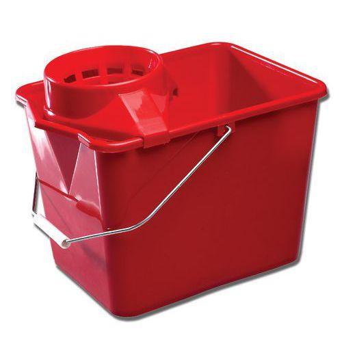 Emmer met wringer rood - 14 l