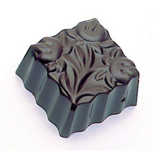 Vierkant bonbons met bloemenprint plaat
