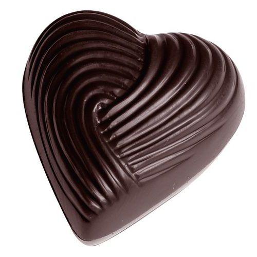 Vorm voor bonbons in hartvorm, geribbeld